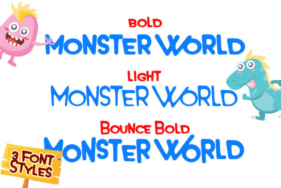 Print on Demand: Monster World Display Font By Lettersiro Co. - Image 10