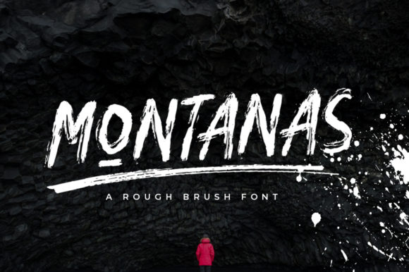 Print on Demand: Montanas Display Font By indotitas