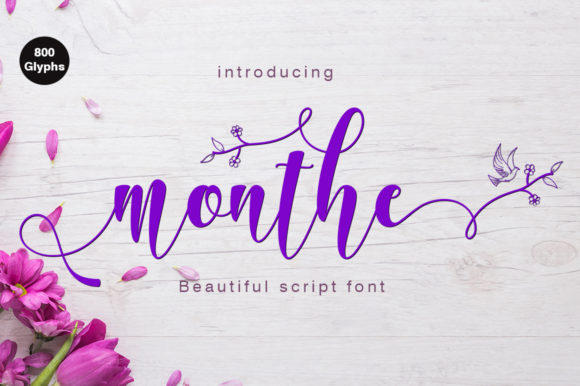 Print on Demand: Monthe Script & Handwritten Font By Rudistudio