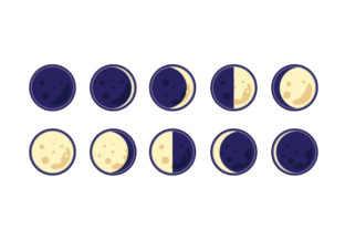 Moon Phases Pagan Craft Cut File By Creative Fabrica Crafts