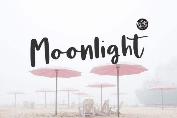 Print on Demand: Moonlight Script & Handwritten Font By PaulaType