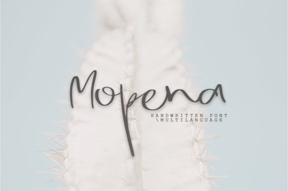 Print on Demand: Mopena Script & Handwritten Font By Katie Holland