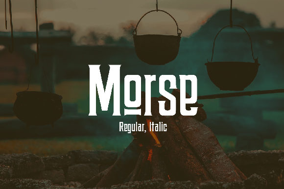 Print on Demand: Morse Display Font By da_only_aan - Image 1