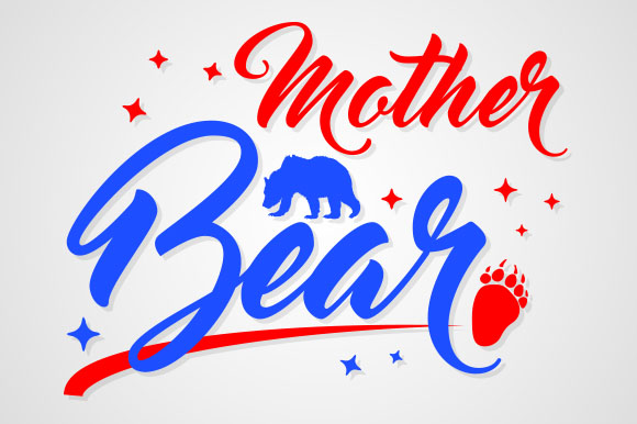 Download Free Mother Bear Graphic By Zaibbb Creative Fabrica for Cricut Explore, Silhouette and other cutting machines.