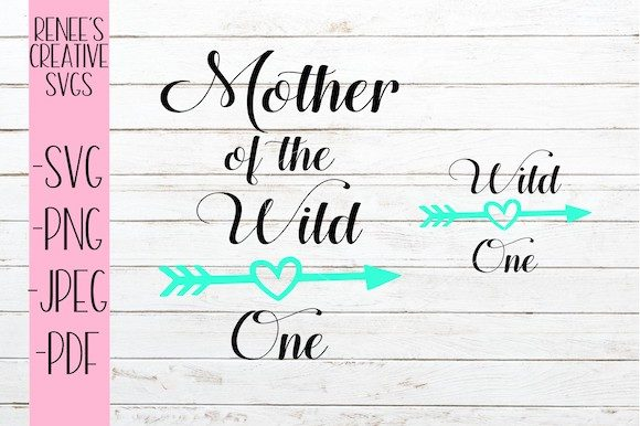 Print on Demand: Mother of the Wild One Graphic Crafts By ReneesCreativeSVGs