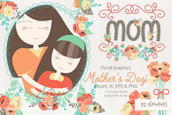 Download Free Mother S Day Clipart Vector Graphic By Michelle Alzola for Cricut Explore, Silhouette and other cutting machines.