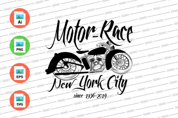 Motor-Race New York City Since 1936 Graphic Illustrations By Skull and Rose - Image 3