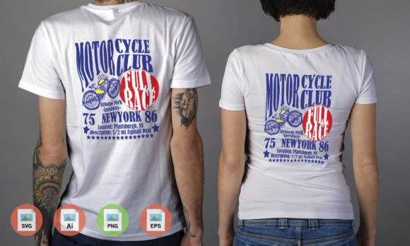 Motorcycle Club New York Graphic Download
