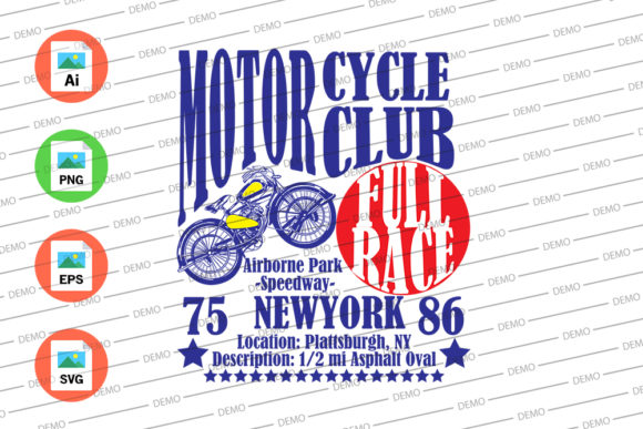 Motorcycle Club New York Graphic Illustrations By Skull and Rose - Image 3