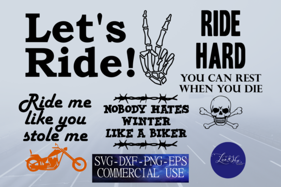 Download Free Motorcyle Quotes Bundle Graphic By Lunaskysvg Creative Fabrica for Cricut Explore, Silhouette and other cutting machines.