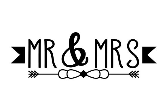 Mr & Mrs Quotes Craft Cut File By Creative Fabrica Crafts - Image 1