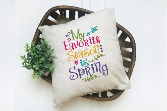 My Favorite Season is Spring SVG Cut File Graphic By oldmarketdesigns Image 5