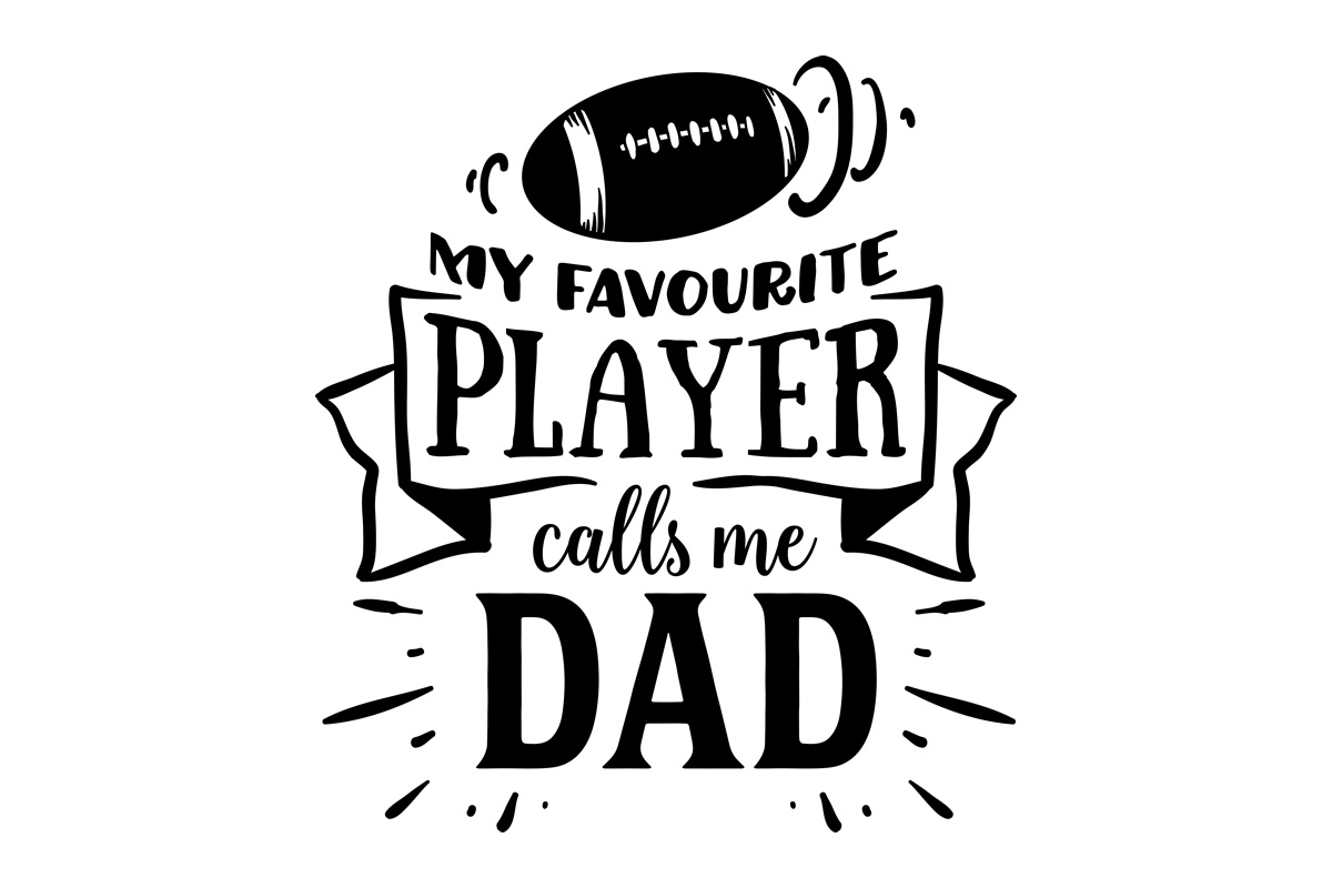 Download Free My Favourite Player Calls Me Dad Svg Cut File By Creative for Cricut Explore, Silhouette and other cutting machines.