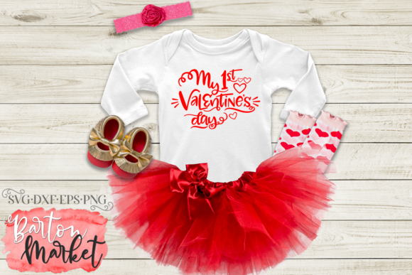 My First Valentine's Day SVG Graphic Crafts By Barton Market