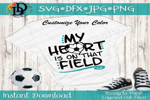 Download Free My Heart Is On That Field Graphic By Dynamicdimensions for Cricut Explore, Silhouette and other cutting machines.