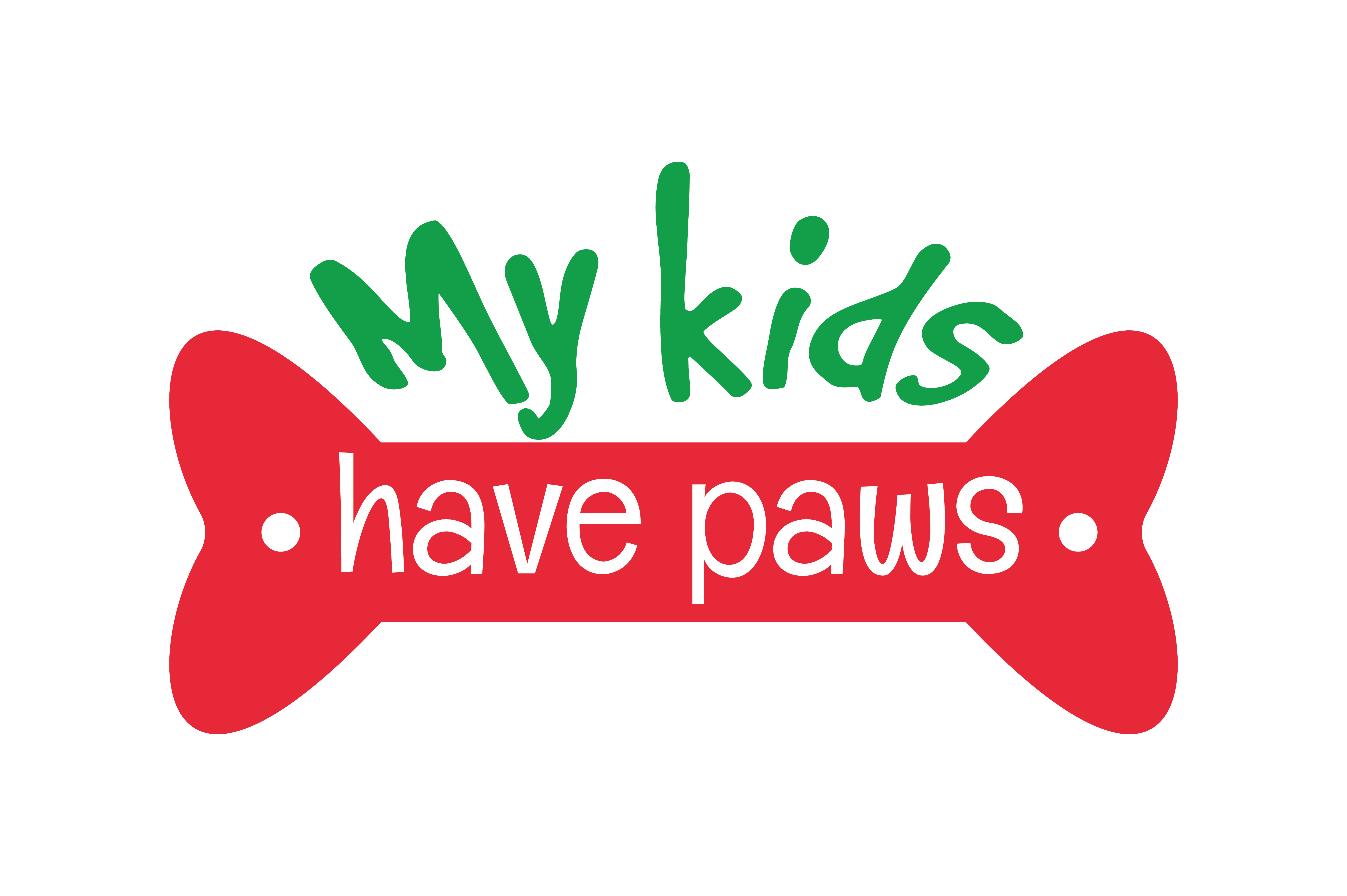 Download Free My Kids Have Paws Quote Svg Cut Graphic By Thelucky Creative for Cricut Explore, Silhouette and other cutting machines.