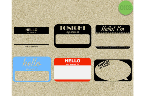 Download Free Name Tag Files Graphic By Crafteroks Creative Fabrica for Cricut Explore, Silhouette and other cutting machines.