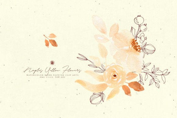 Naples Yellow Flowers Graphic Illustrations By webvilla - Image 2