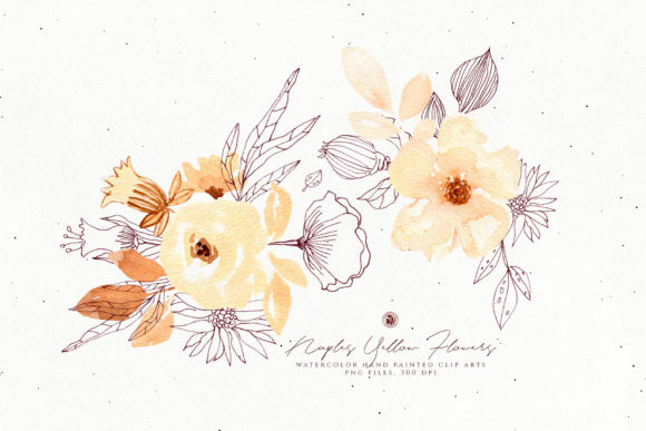Naples Yellow Flowers Graphic Illustrations By webvilla - Image 4