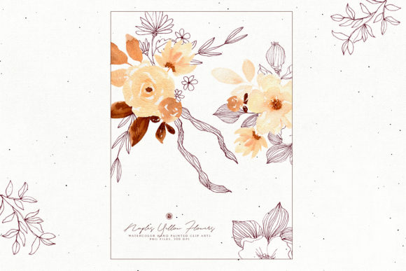 Naples Yellow Flowers Graphic Illustrations By webvilla - Image 5
