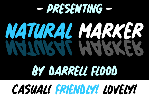 Print on Demand: Natural Marker Script & Handwritten Font By Dadiomouse