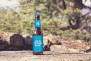 Print on Demand: Nature Beer Mockup Graphic Product Mockups By SmartDesigns