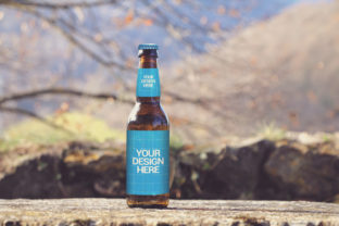 Print on Demand: Nature View Beer Mockup Graphic Product Mockups By SmartDesigns