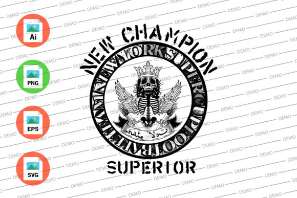 New Champion Superior Graphic Illustrations By Skull and Rose