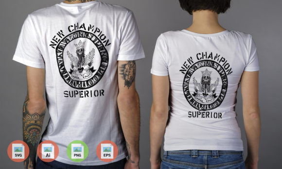 New Champion Superior Graphic Graphic Templates By Skull and Rose - Image 1
