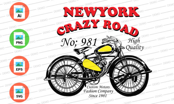New York Crazy Road Graphic Illustrations By Skull and Rose
