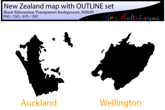 New Zealand Provinces Graphic By Arcs Multidesigns Image 2