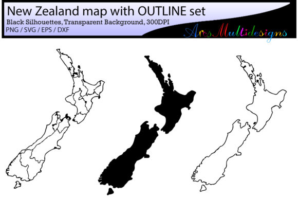 New Zealand Provinces Graphic By Arcs Multidesigns Image 3