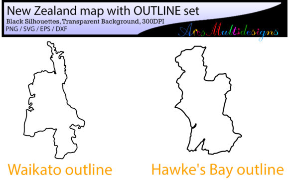 New Zealand Provinces Graphic By Arcs Multidesigns Image 4
