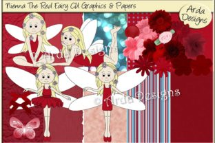 Download Free Nieena The Red Fairy Graphic By Arda Designs Creative Fabrica for Cricut Explore, Silhouette and other cutting machines.