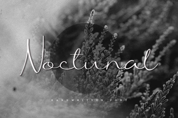 Print on Demand: Noctunal Script & Handwritten Font By Katie Holland