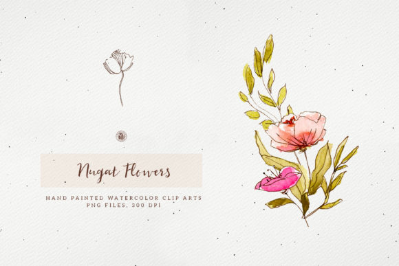 Nugat Flowers Graphic Download