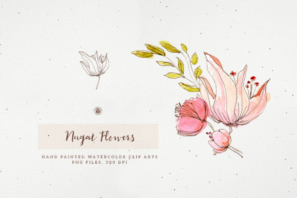 Nugat Flowers Graphic Illustrations By webvilla - Image 3