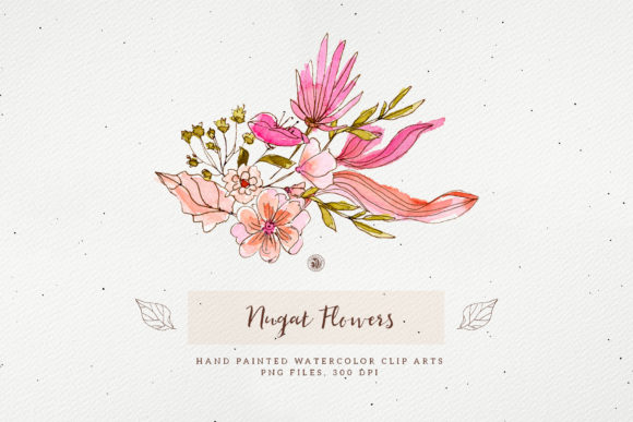 Nugat Flowers Graphic Preview