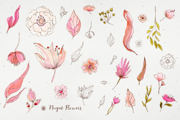 Nugat Flowers Graphic Illustrations By webvilla - Image 6