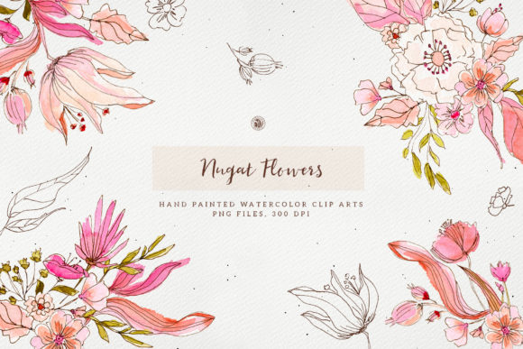 Nugat Flowers Grafik Illustrationen von webvilla