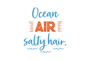 Download Free Ocean Air Salty Hair Quote Svg Cut Graphic By Thelucky for Cricut Explore, Silhouette and other cutting machines.
