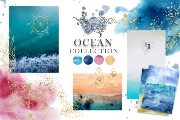 Ocean Watercolor Collection Graphic Illustrations By EvgeniiasArt - Image 2