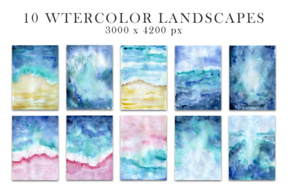 Ocean Watercolor Collection Graphic Illustrations By EvgeniiasArt - Image 3