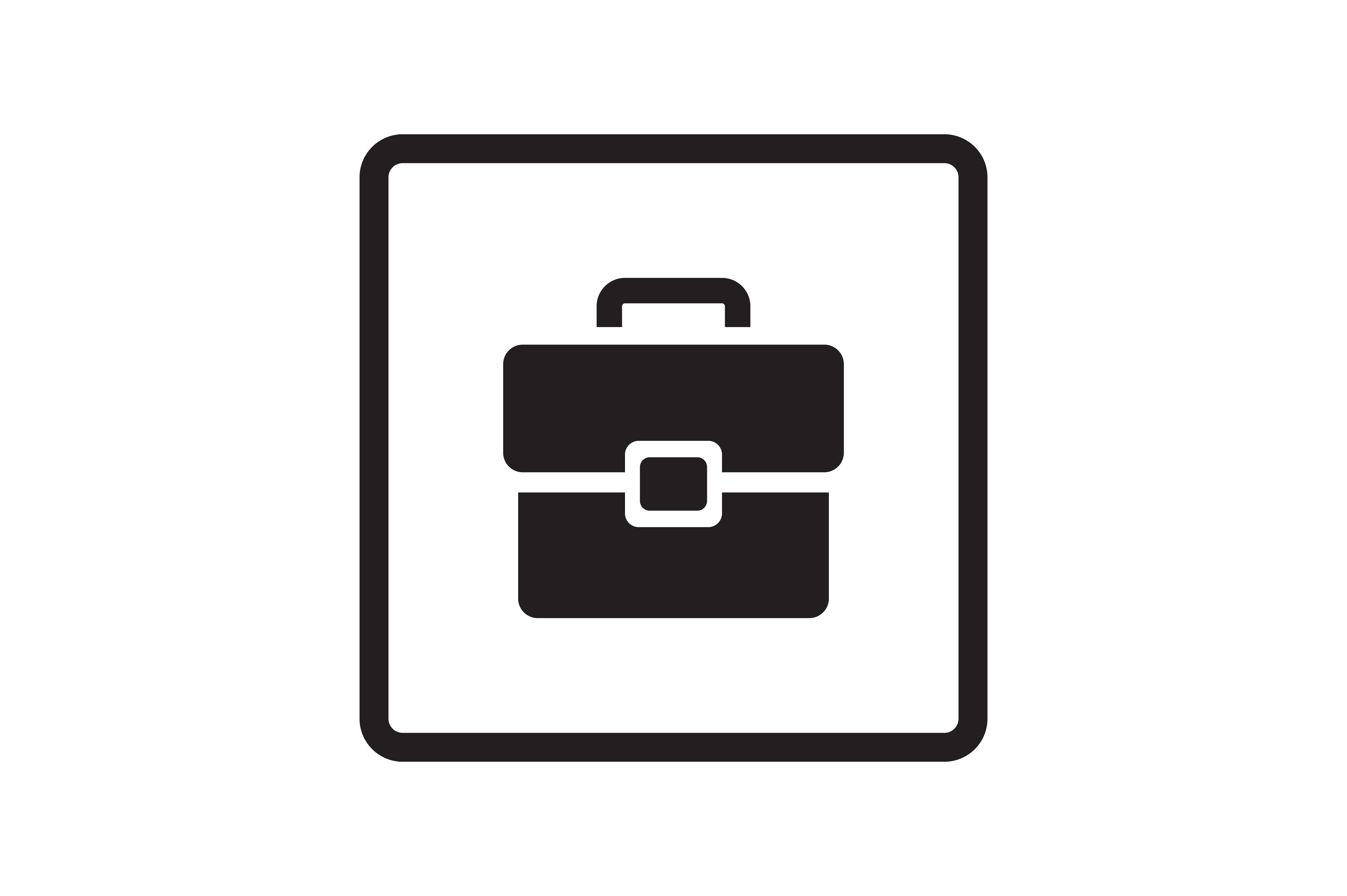 Download Free Office Bag Icon Graphic By Zafreeloicon Creative Fabrica for Cricut Explore, Silhouette and other cutting machines.