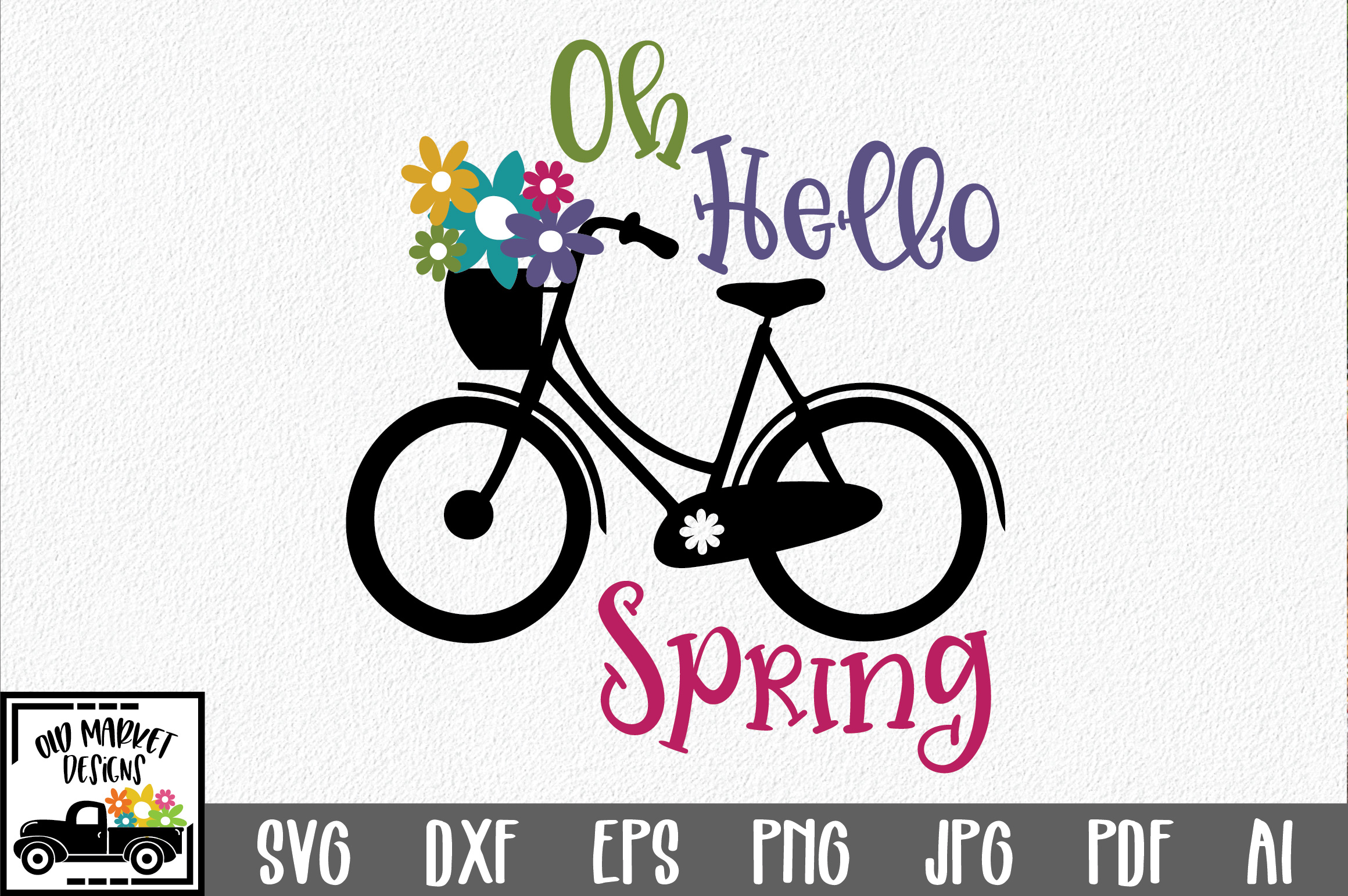 Download Free Oh Hello Spring Svg Cut File Spring Svg Graphic By for Cricut Explore, Silhouette and other cutting machines.