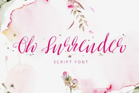 Oh Surrender Script & Handwritten Font By Creativeqube Design