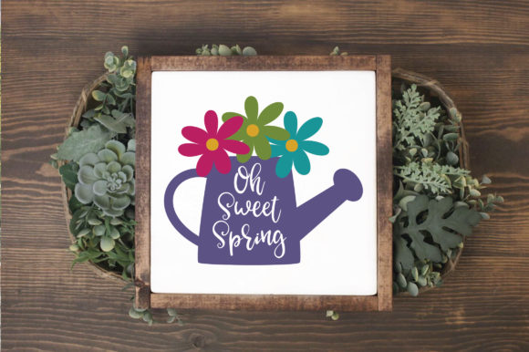 Oh Sweet Spring SVG Cut File Spring SVG Graphic By oldmarketdesigns Image 3
