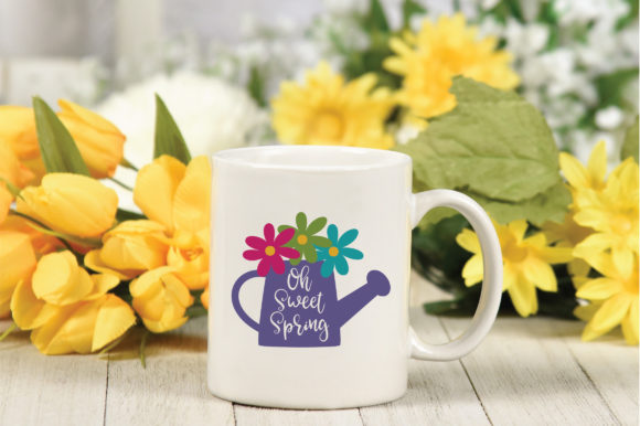 Oh Sweet Spring SVG Cut File Spring SVG Graphic By oldmarketdesigns Image 4