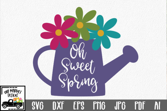 Download Free Oh Sweet Spring Svg Cut File Spring Svg Graphic By for Cricut Explore, Silhouette and other cutting machines.