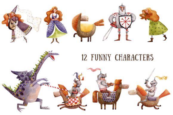 Download Free Old Old Fairy Tale Watercolor Clip Art Set Grafik Von for Cricut Explore, Silhouette and other cutting machines.
